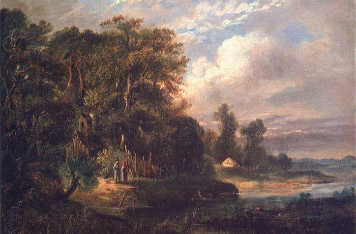 Лесной пейзаж. 1866 год. Холст, масло. Национальный музей в Кракове.