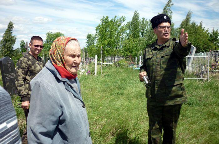 Анна Алексеевна Терёхина, местная жительница, которая помнит польских солдат на Татищевской земле