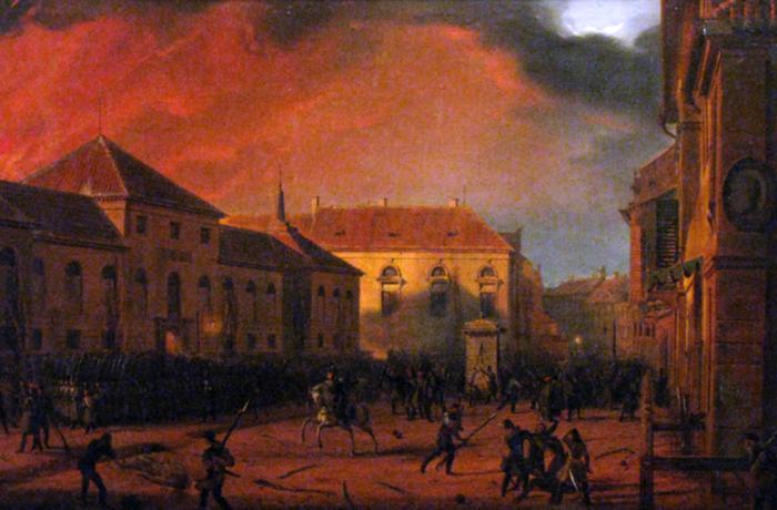 Марцин Залеский. «Взятие варшавского арсенала». 1830