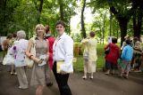 Один из авторов композиции Илья Болгов и Татьяна Ракус, директор Дома Польского в Петербурге