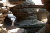 Блендне Скалы в Столовых горах в Судетах Польша