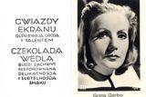 """Грета Гарбо в рекламе шоколада """"Ведель"""""""