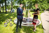 Директор Дома Польского в Петербурге Татьяна Ракус и Илья Болгов