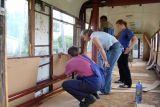 Процесс реконструкции вагона