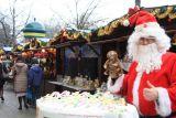 Рождественская ярмарка на площади Вилсона в районе Жолибож в Варшаве