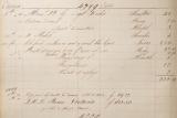 Табель, свидетельствовавший о покупке часов Королевой Викторией