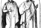 Гравюра 18-го века, изображающего друидов